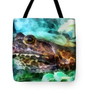 Frog Ready To Be Kissed Tote Bag by Susan Savad
