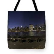 From Gantry At Night Tote Bag