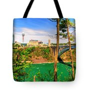 From Usa To Can Over The Rainbow Bridge Tote Bag