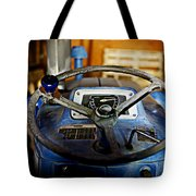 From Where I Sit Tractor Tote Bag