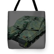 Front View Of A British Challenger II Tote Bag