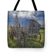 Frontier Farm In 1880 Town Tote Bag