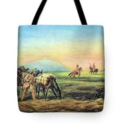 Frontiersmen And Native American Tote Bag