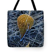 Frost On An Aspen Leaf Tote Bag