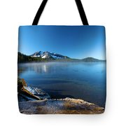 Frost On The Shore Tote Bag