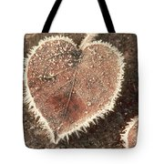 Frosted Fall Leaves Tote Bag