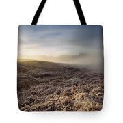 Frosted Fields And Misty Valley Tote Bag