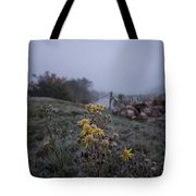 Frosted Flowers Tote Bag