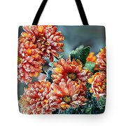 Frosted Mums Tote Bag