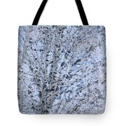 Frosted Tree Tote Bag