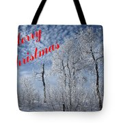 Frosted Trees Christmas Tote Bag