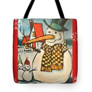Frosty Family Poster Tote Bag