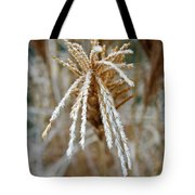 Frosty Fountain Grass Tote Bag