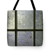 Frosty Window Pane Tote Bag