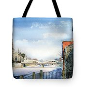 Frozen Shadows On The Grand Tote Bag