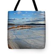 Frozen Shoreline Tote Bag
