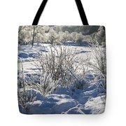 Frozen Winter Landscape Tote Bag