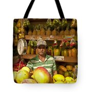 Fruit Market Stand Tote Bag by Heiko Koehrer-Wagner