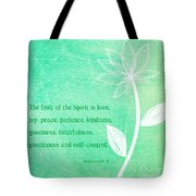 Fruit Of The Spirit Tote Bag by Linda Woods
