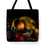 Fruit Still Life With Wine Tote Bag