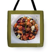 Fruity Tea With Bamboo Leaves Square Tote Bag