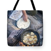 Frying Walleye Fish Fillets Tote Bag