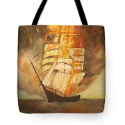 Fuego Al Mar Tote Bag