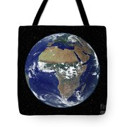 Full Earth Showing Africa And Europe Tote Bag