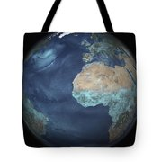 Full Earth Showing Evaporation Tote Bag