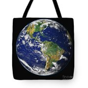 Full Earth Showing The Western Tote Bag