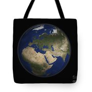 Full Earth View Showing Africa, Europe Tote Bag