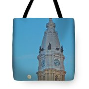 Full Moon And Billy Penn Tote Bag