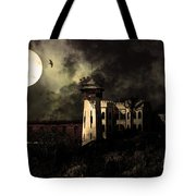 Full Moon Over Hard Time - San Quentin California State Prison - 7d18546 - Partial Sepia Tote Bag