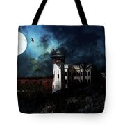 Full Moon Over Hard Time - San Quentin California State Prison - 7d18546 Tote Bag