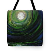 Full Moon Over The Sea Tote Bag