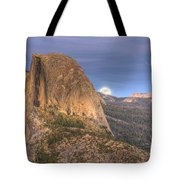 Full Moon Rise Behind Half Dome 2 Tote Bag