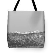 Full Moon Setting Over The Co Rocky Mountains Bw Tote Bag