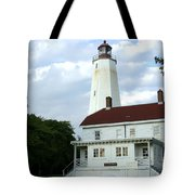 Full View Of Sandy Hook Lighthouse Tote Bag