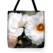 Full White Roses Tote Bag