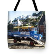 Funky Ferry Landing Vehicle Tote Bag