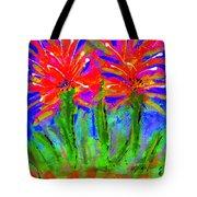 Funky Flower Towers Tote Bag