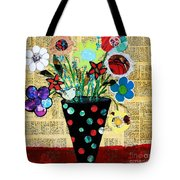 Funky Flowers Tote Bag