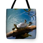 Funny Turtle Catching Some Rays Tote Bag