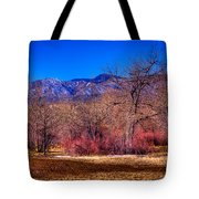 Furrowed Field At South Platte Park Tote Bag