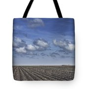 Furrows In A Texas Field Tote Bag
