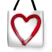 Furry Heart - Symbol Of Love Tote Bag