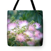 Furry Pink Bouquet Tote Bag