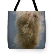 Fuzzy Cattail Tote Bag