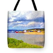 Gabarus Cape Breton Nova Scotia Fishing Village Tote Bag