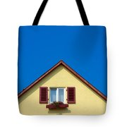 Gable Of Beautiful House In Front Of Blue Sky Tote Bag
